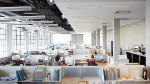 Modern office with open floor plan